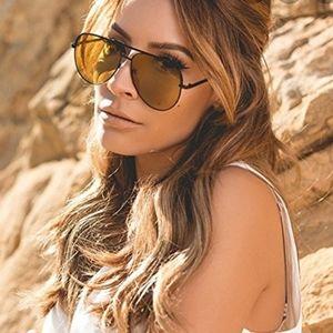 Quay x Desi Sahara aviator sunglasses NWT